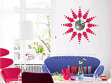 Wall Sticker Decorative Clock - Hearts