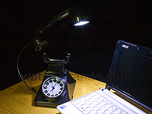 USB Retro Telephone Light with Alarm Clock