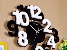 3D Double Color Wooden Wall Clock