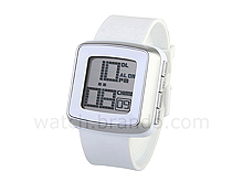 Interchange LCD Watch with Metallic Bezel Rings