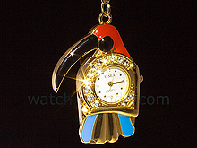 USB Jewel Parrot Watch Keychain Flash Drive
