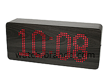 Mysterious Wooden LED Messge Clock (Dotted LED/Black Wood)