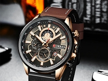 Curren Mens PU Leather Band Strap Wristwatch 8380