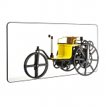 Rickshaw Wheel Clock with Mirror