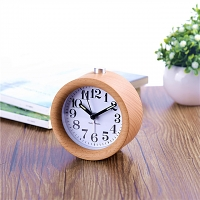 Beech Mini Alarm Clock