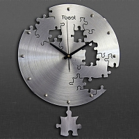 Titanium Alloy Puzzle Swing Clock