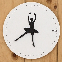 Swan Lake Non Ticking Silent Wall Clock