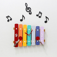 Xylophone Non Ticking Silent Wall Clock