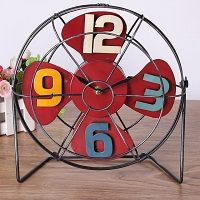 Retro Iron Fan Clock