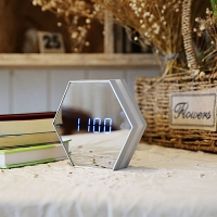 Multifunctional Hexagonal Mirror Alarm Clock