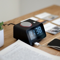 4-in-1 Bluetooth Alarm Clock Speaker with Dual USB Charger