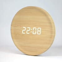Simple Round LED Alarm Clock