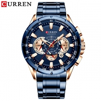 Curren Mens Fashion with Stainless Steel Band Strap Wristwatch 8363