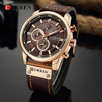 Curren Mens PU Leather Band Strap Wristwatch 8291