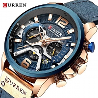 Curren Mens PU Leather Band Strap Wristwatch 8329
