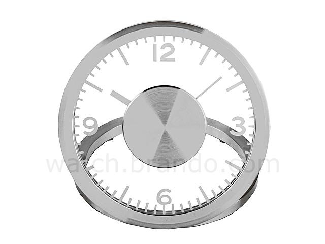 metropolis metal table clock