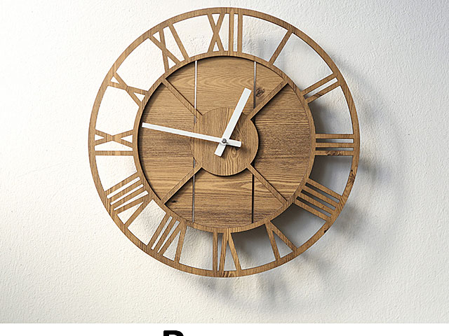 Wooden Roma Antique Wall Clock