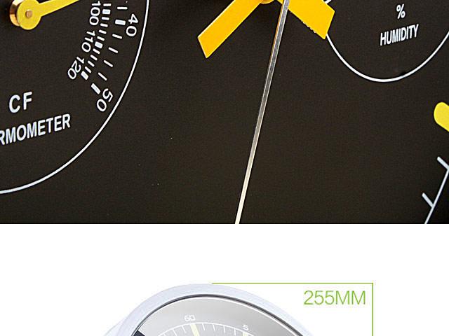 Temperature Hygrometer Wall Clock