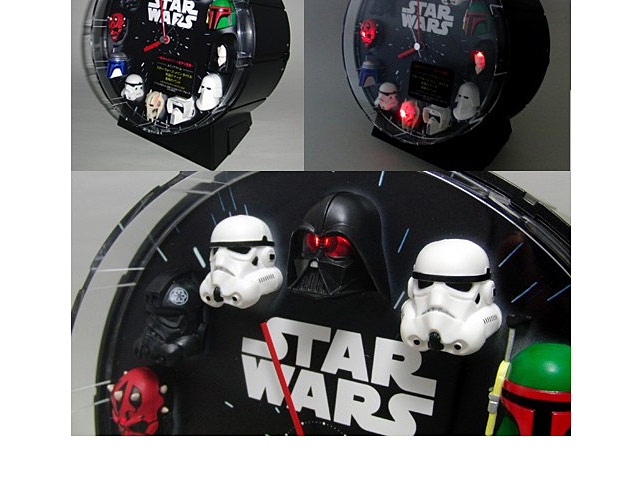 Rhythm Star Wars 12 Figures Clock