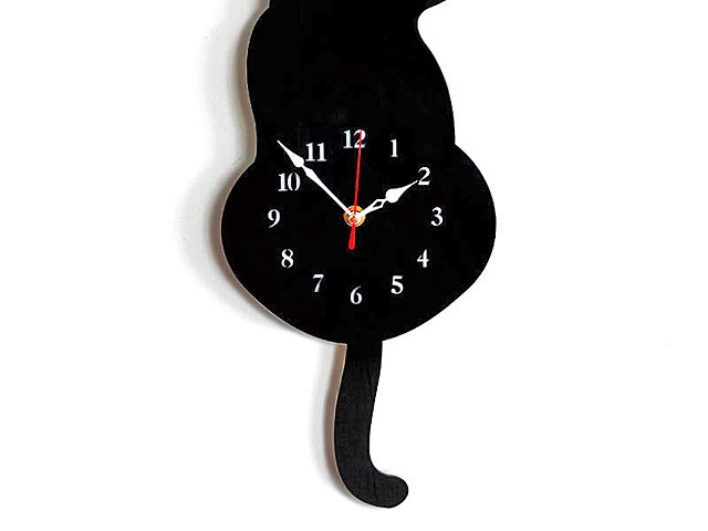 Cat Swing Clock