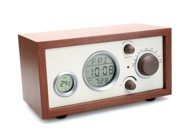 7 Inch Wooden Vintage Clock