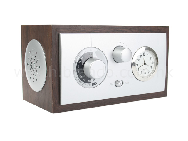 vintage analog radio clock. Black Bedroom Furniture Sets. Home Design Ideas