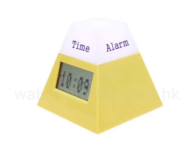 Rotative Pyramid Calendar Clock