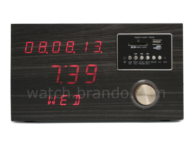 Wooden Sound Box Clock