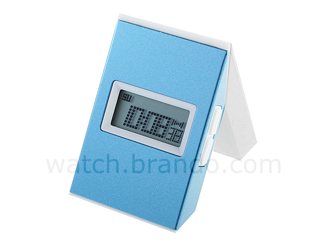 Twist Metal Framed LCD Alarm Clock