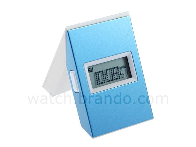 Twist Metal Framed Lcd Alarm Clock