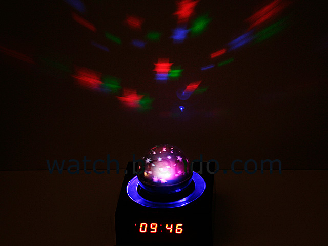 Starry Sky Projection Clock (Red LED)