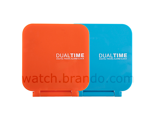 Dual Time Analog Travel Alarm Clock