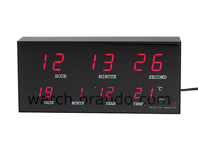 Digital LED Clock (Date/Time/Temperature)