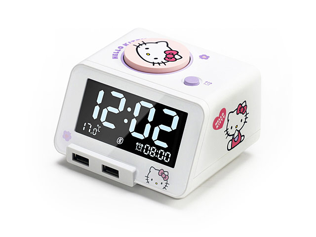 hello kitty 4 in 1 bluetooth alarm clock speaker with dual usb charger limited edition. Black Bedroom Furniture Sets. Home Design Ideas