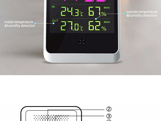 Remote Weather Station Alarm Clock (YGH-391)