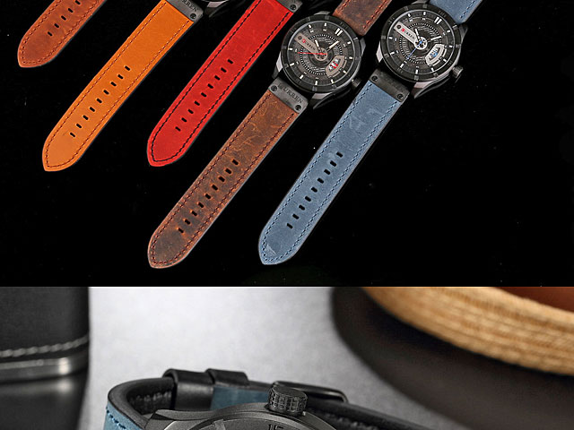 Curren Mens Sport Leather Band Strap Wristwatch 8301
