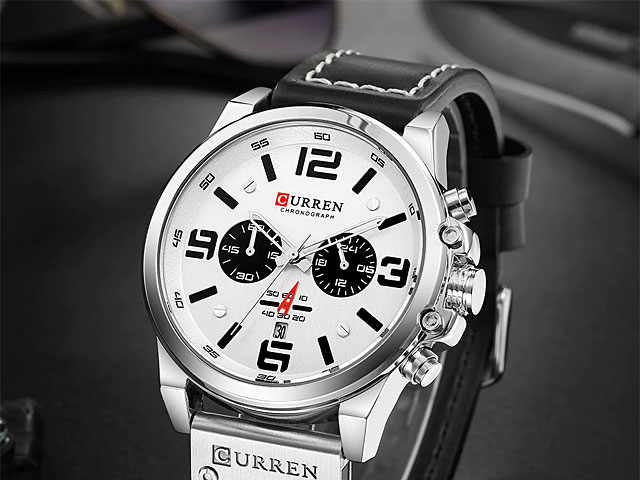 Curren Mens PU Leather Band Strap Wristwatch 8314