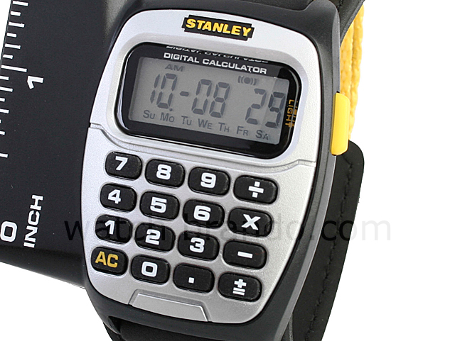 Stanley Calculator Ruler Watch